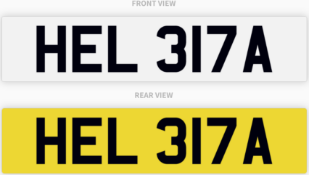 HEL 317A , number plate on retention