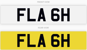 FLA 6H , number plate on retention