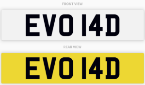 EVO 14D , number plate on retention