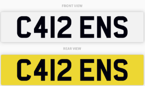 C412 ENS , number plate on retention