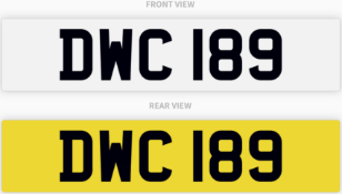 DWC 189 , number plate on retention