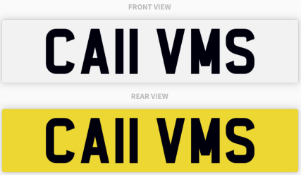 CA11 VMS , number plate on retention