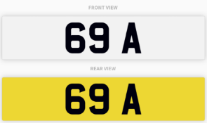 69 A , number plate on retention