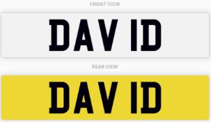 DAV 1D , number plate on retention
