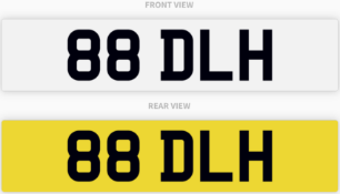 88 DLH , number plate on retention
