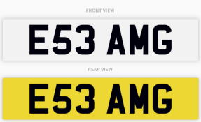 E53 AMG Number Plate
