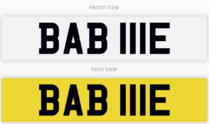BAB 111E , number plate on retention