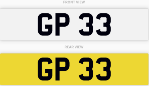GP 33 , number plate on retention