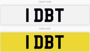 1 DBT , number plate on retention