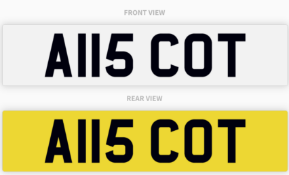 A115 COT , number plate on retention