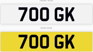 700 GK , number plate on retention
