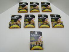 64 x AAA Duracell Batteries.