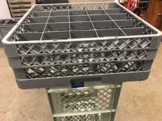 Crates for glasses/cups 500/500mm x 12