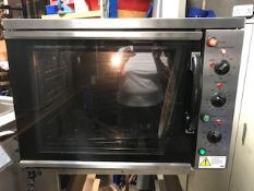 Quattro turbo convection oven on mobile stand