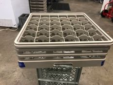 Crates for glasses/cups 500/500mm x 7