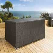 Black Rattan Waterproof Storage Box
