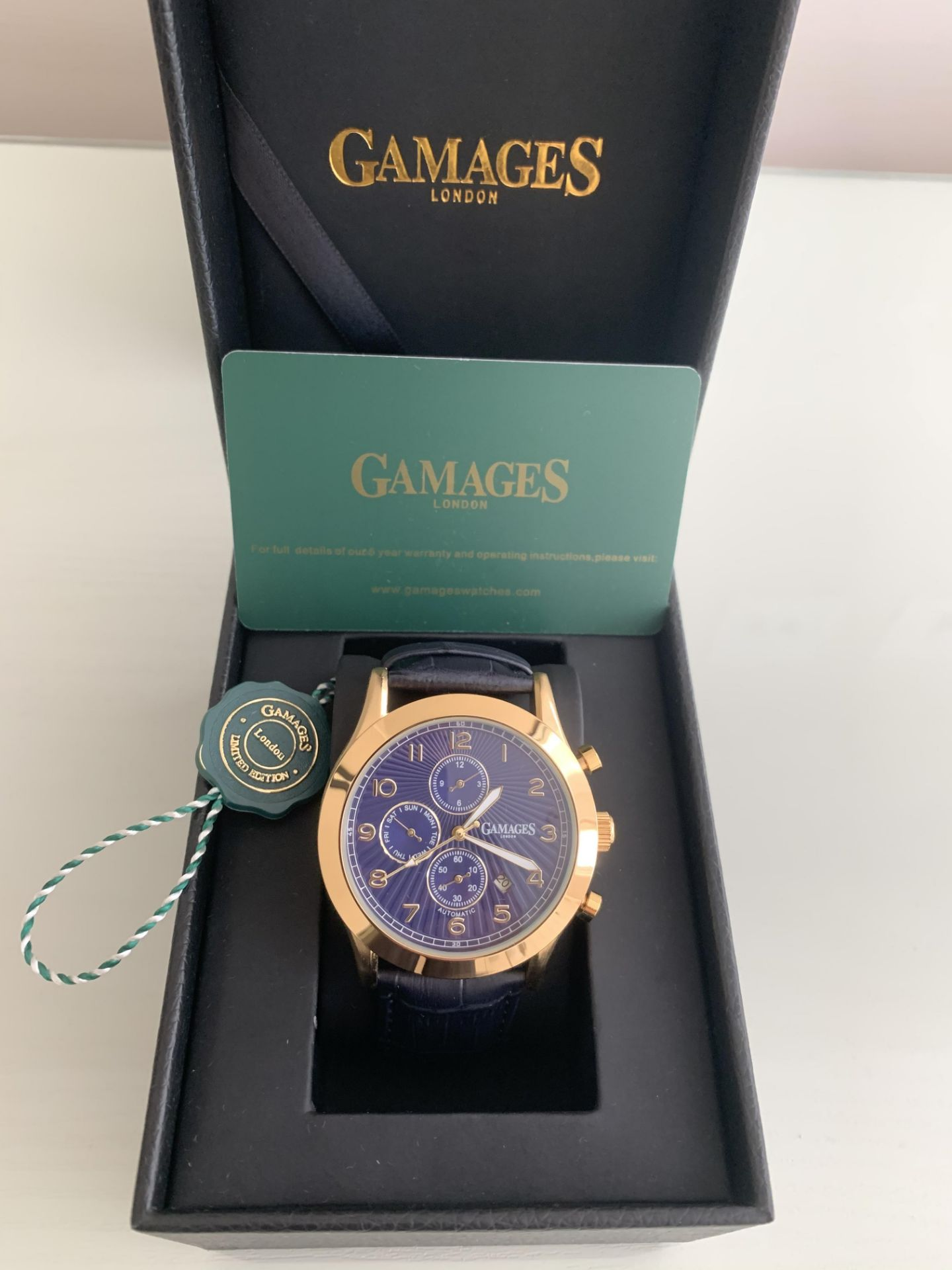 Limited Edition Hand Assembled Gamages Infantry Automatic Gold – 5 Year Warranty & Free Delivery