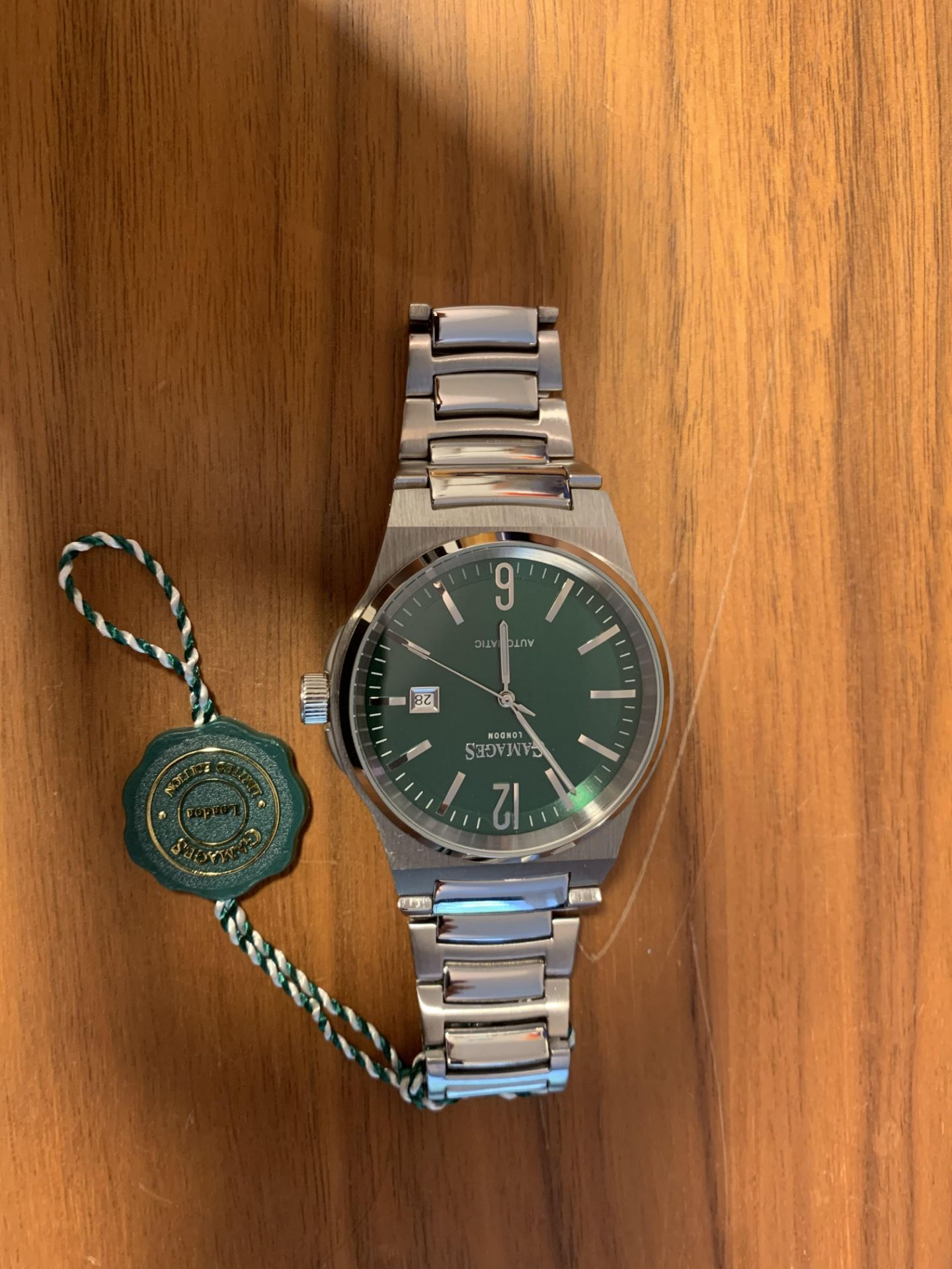 Limited Edition Hand Assembled Gamages Debonair Automatic Green – 5 Year Warranty & Free Delivery - Image 4 of 5