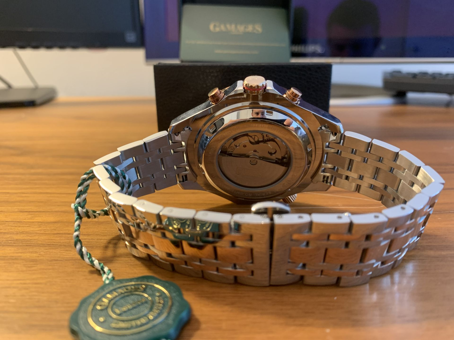 Ltd Ed Hand Assembled Gamages Intrinsic Rotator Automatic Two Tone – 5 Yr Warranty & Free Delivery - Image 5 of 5