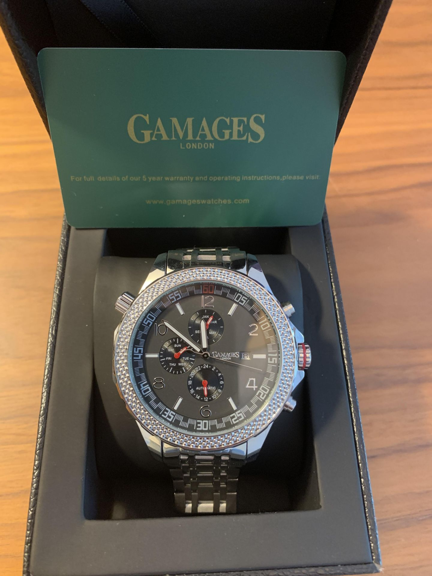 Ltd Edition Hand Assembled Gamages Intrinsic Rotator Automatic Steel – 5 Yr Warranty & Free Delivery