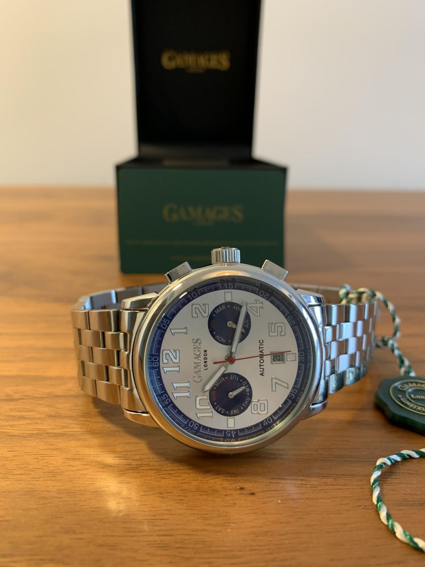 Limited Edition Hand Assembled Gamages Triple Date Automatic Steel – 5 Year Warranty & Free Delivery - Image 4 of 5