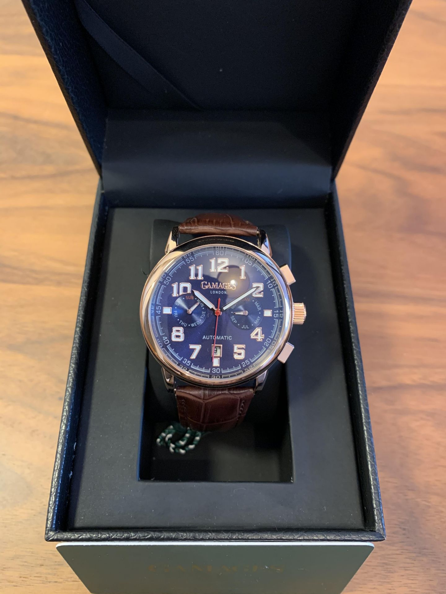 Limited Edition Hand Assembled Gamages Triple Date Automatic Rose – 5 Year Warranty & Free Delivery