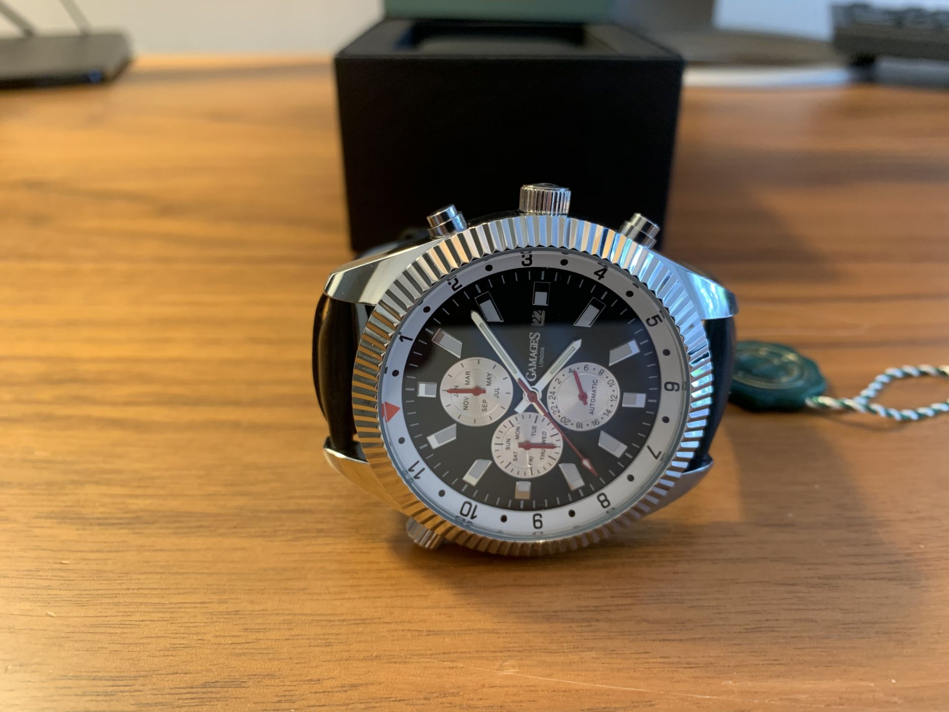 Ltd Edition Hand Assembled Gamages Hour Rotator Automatic Steel – 5 Year Warranty & Free Delivery - Image 4 of 5