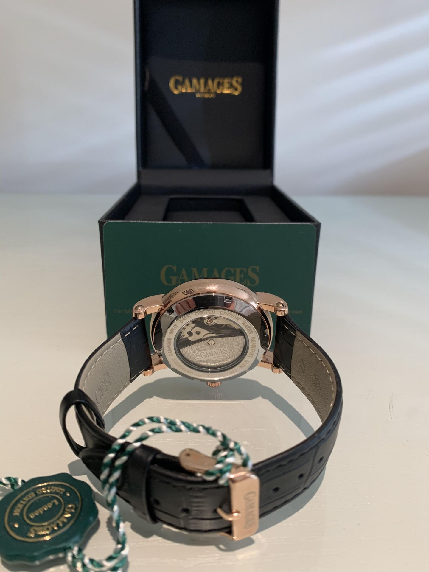 Limited Edition Hand Assembled Gamages Split Date Automatic Rose – 5 Year Warranty & Free Delivery - Image 5 of 5