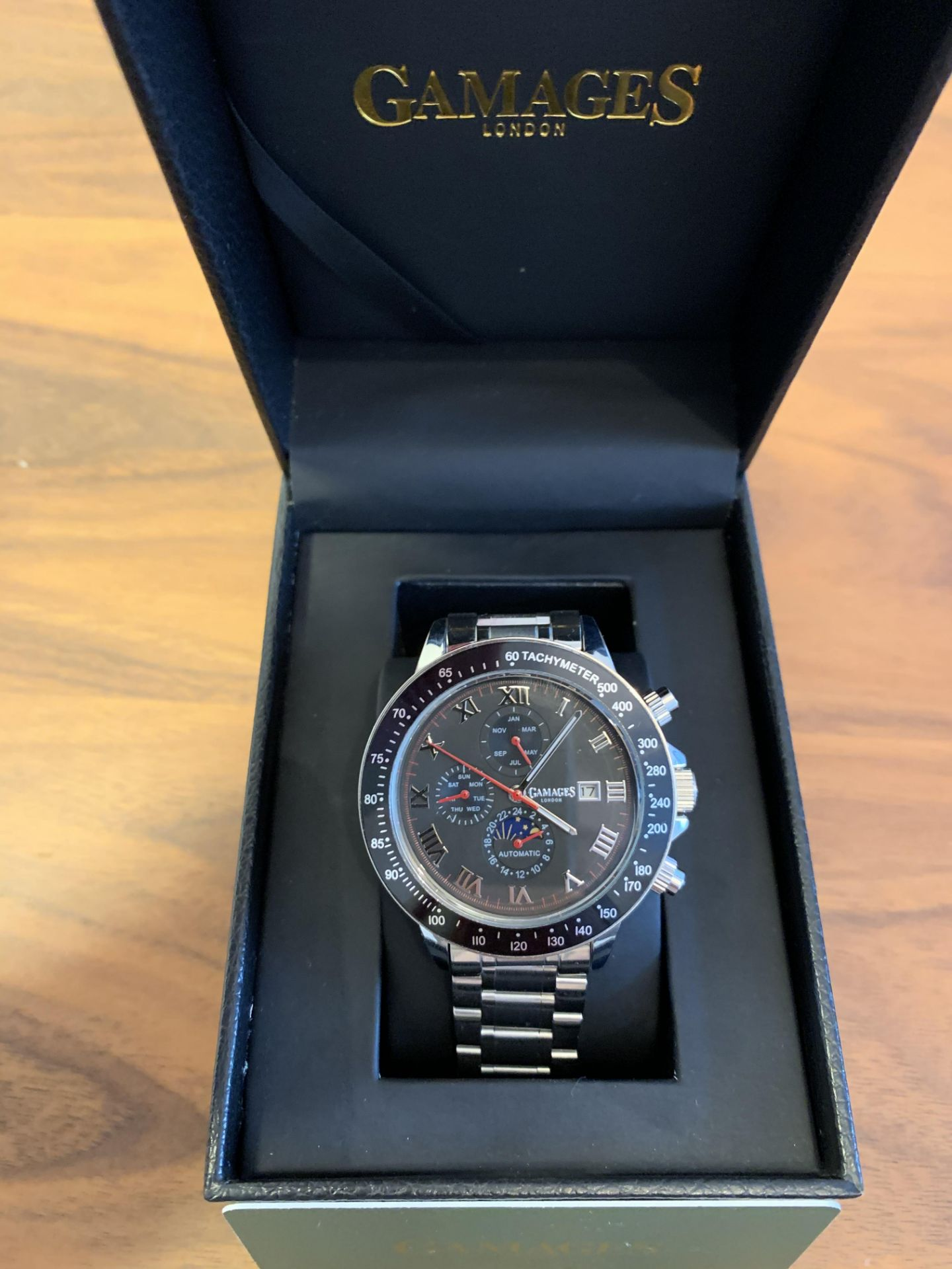 LiLtd Edition Hand Assembled Gamages Race Calendar Automatic Steel – 5 Year Warranty & Free Delivery - Image 3 of 5