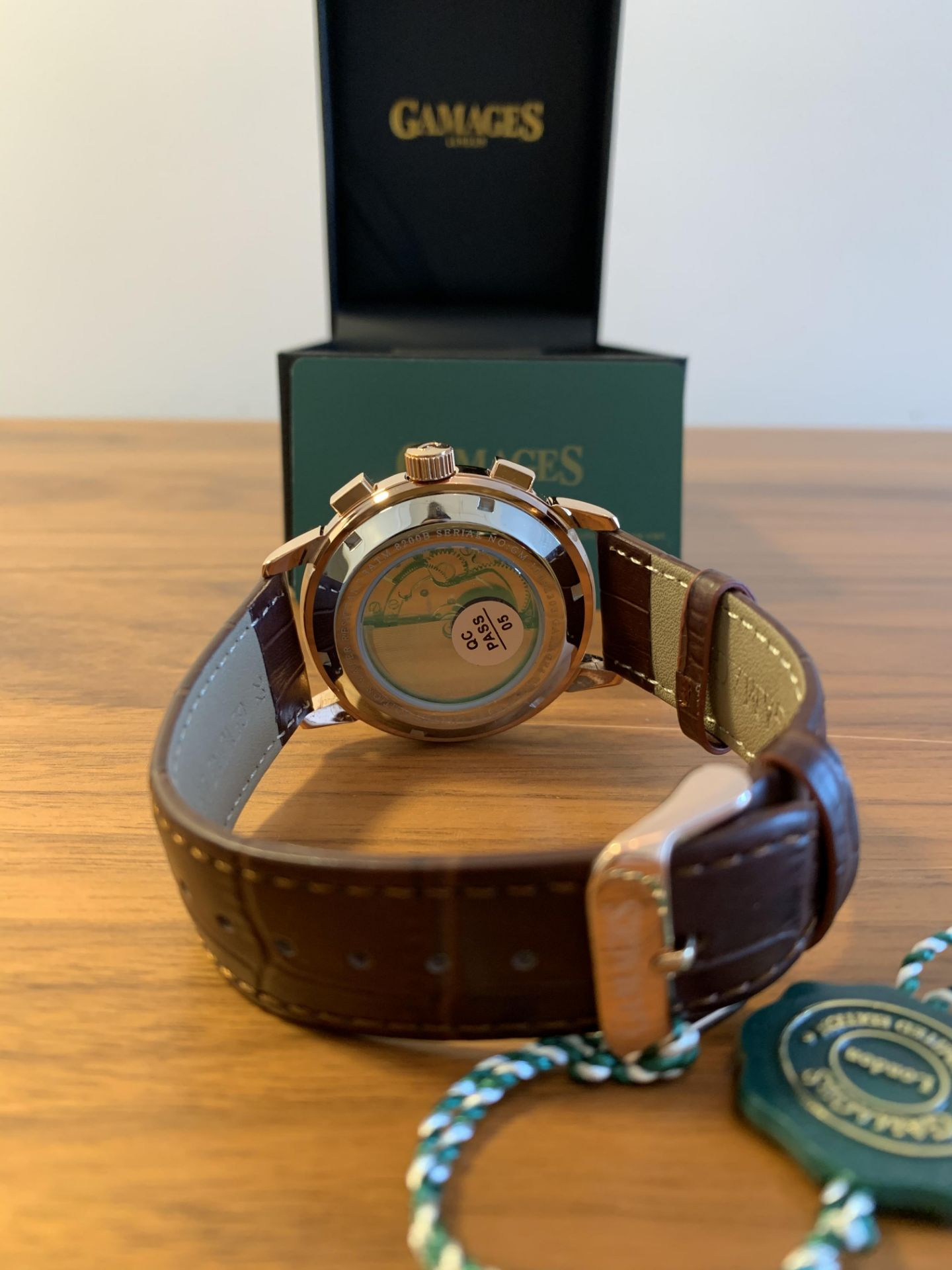 Limited Edition Hand Assembled Gamages Triple Date Automatic Rose – 5 Year Warranty & Free Delivery - Image 4 of 5