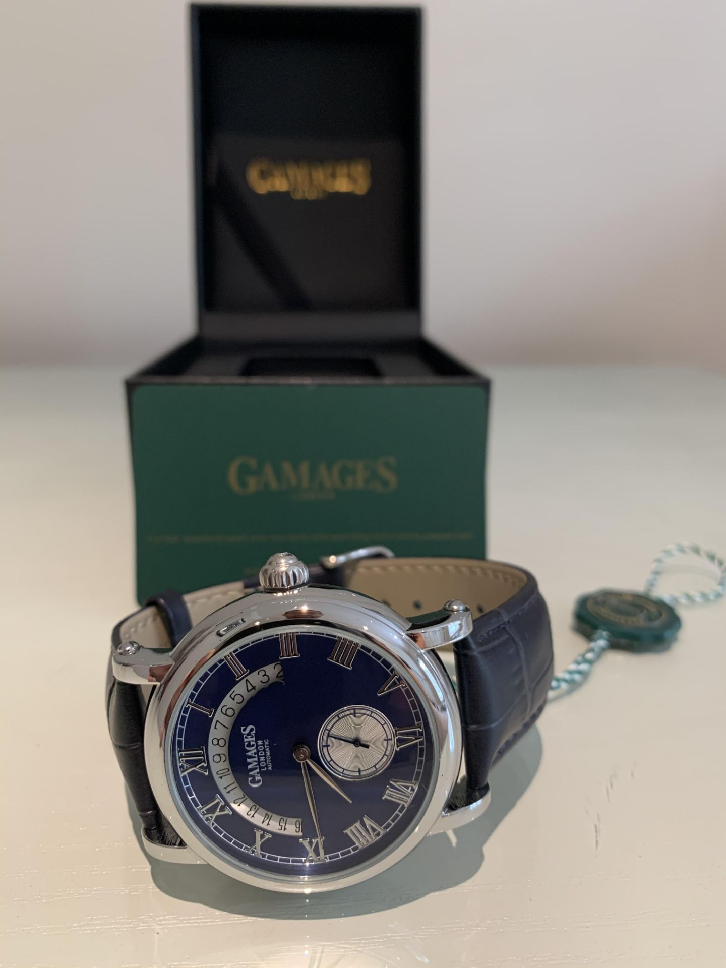 Limited Edition Hand Assembled Gamages Split Date Automatic Steel – 5 Year Warranty & Free Delivery