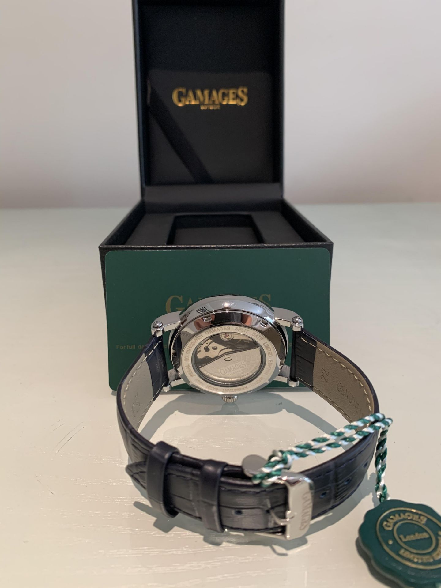 Limited Edition Hand Assembled Gamages Split Date Automatic Steel – 5 Year Warranty & Free Delivery - Image 5 of 5