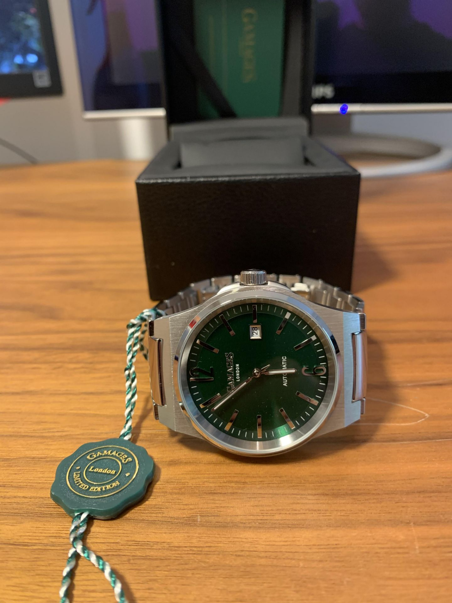 Limited Edition Hand Assembled Gamages Debonair Automatic Green – 5 Year Warranty & Free Delivery - Image 5 of 5