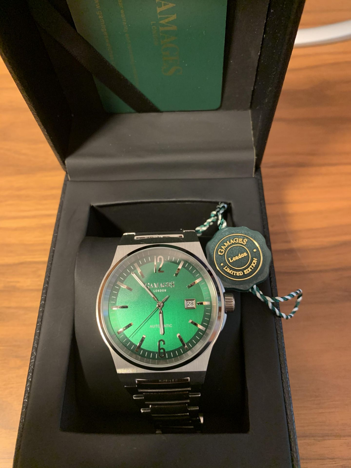 Limited Edition Hand Assembled Gamages Debonair Automatic Green – 5 Year Warranty & Free Delivery