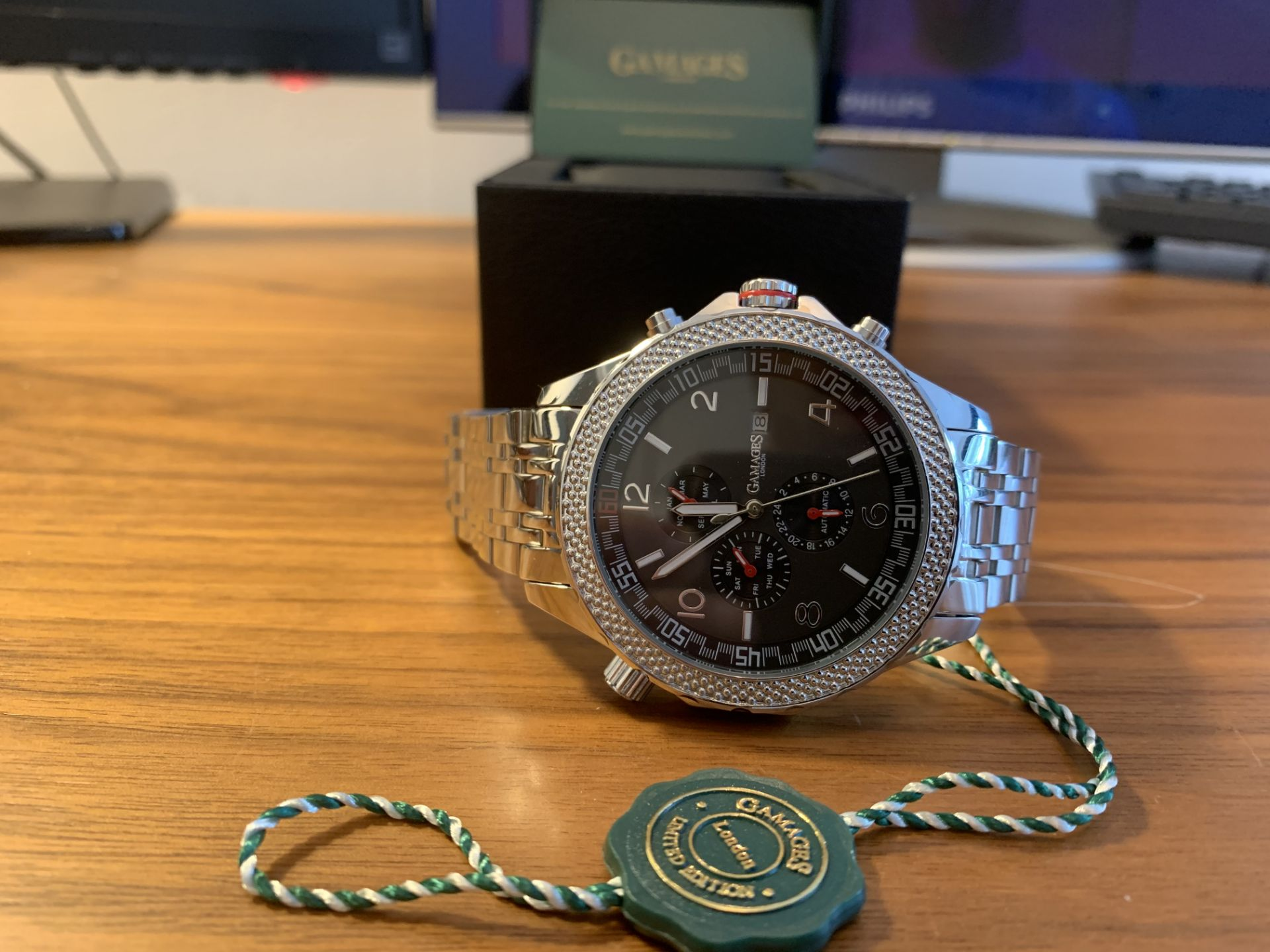 Ltd Edition Hand Assembled Gamages Intrinsic Rotator Automatic Steel – 5 Yr Warranty & Free Delivery - Image 3 of 5
