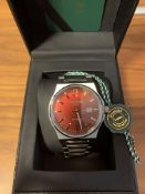 Limited Edition Hand Assembled Gamages Debonair Automatic Red – 5 Year Warranty & Free Delivery