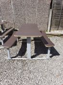 Commercial Outdoor bench seating x 5