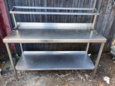 Stainless Table with shelf