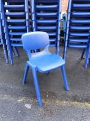 Quantity 6 Sturdy Plastic Stacking Chairs