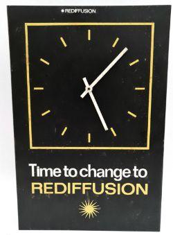 Vintage Advertising Redifusion Metal Wall Clock