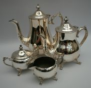 Vintage Silver Plated Tea & Coffee Set
