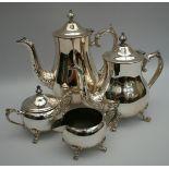 Vintage Silver Plated Tea & Coffee Set