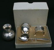 Vintage Christening Set EPNS Boxed