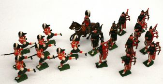 Vintage Britain's Metal Toy Soldiers Assorted Scottish 19 in Total