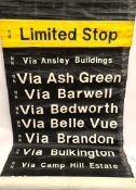 Vintage Canvas Bus Destination Roll 40 Destinations