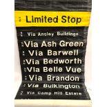 Vintage Canvas Bus Destination Roll 40 Destinations