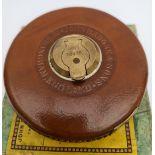 Vintage Tools Rabone 66ft Steel Tape Original Box Leather Case