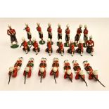 Vintage 22 Britains Cast Metal Toy Soldiers 6cm Tall