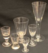 Antiques assortment of Six Drinking Glasses