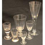 Antiques assortment of Six Drinking Glasses
